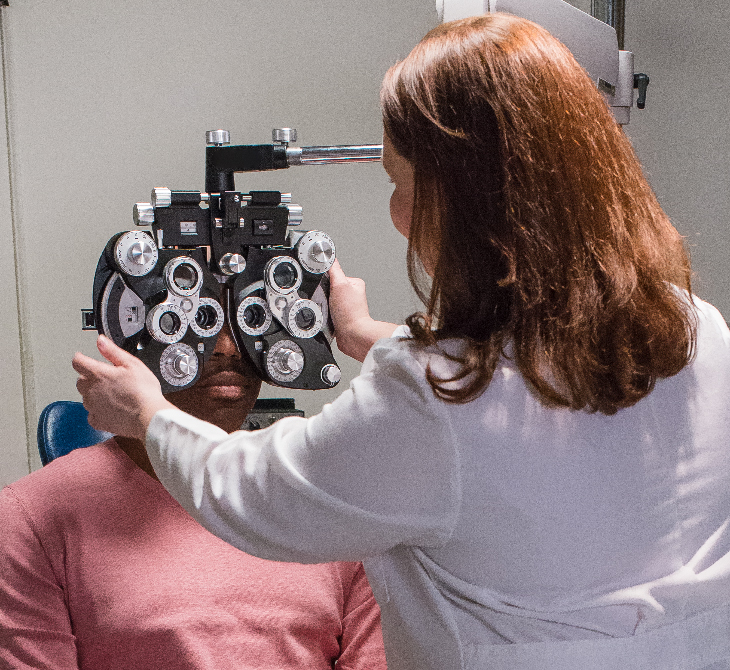 person getting an eye exam