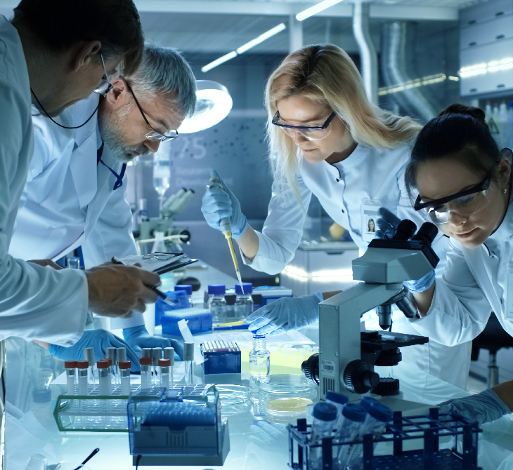 research scientists working in a lab