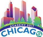 Logo of the AAO's annual meeting Academy 2017 Chicago.