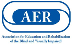 Logo of AER—Association for Education and Rehabilitation of the Blind and Visually Impaired.