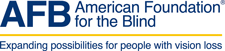 Logo of the American Foundation for the Blind.