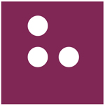 Logo graphic of square with three circles for Hadley Institute for the Blind and Visually Impaired.