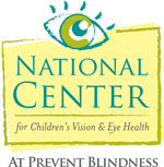 Logo of the National Center for Children's Vision & Eye Health at Prevent Blindness.