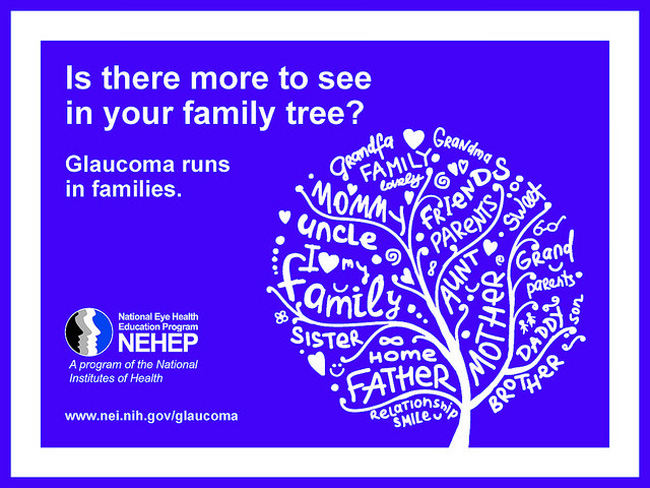 Glaucoma runs in families