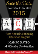 JCAHPO and ATPO bring the Annual Continuing Education Program to Las Vegas