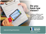 Link to the webpage Low Vision Awareness Month materials