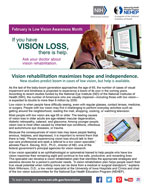Vision rehabilitation maximizes hope and independence