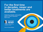 Thumbnail of a diabetic eye disease infocard. For full infocard content click on infocard links.