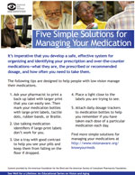 Five simple solutions for managing your medication