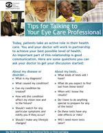 Tips for talking to your eye care professionals