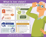 Thumbnail image of a low vision infographic.  For full infographic content click on infographic links.