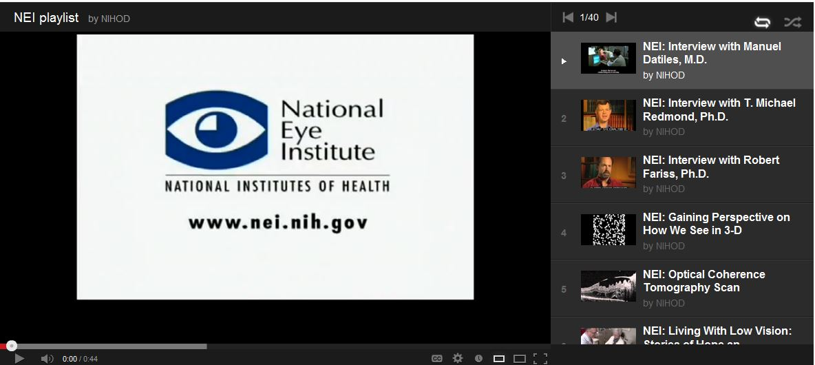 NEI YouTube Playlist Available