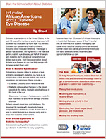 Thumbnail image of a diabetic eye disease fact sheet.  For full fact sheet content click on fact sheet links.