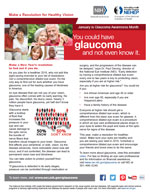 Thumbnail image of a glaucoma article. For full article content click on article links.