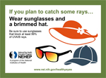 If you plan to catch some rays…wear sunglasses and a brimmed hat