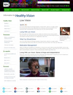 Low Vision consumer website (English)