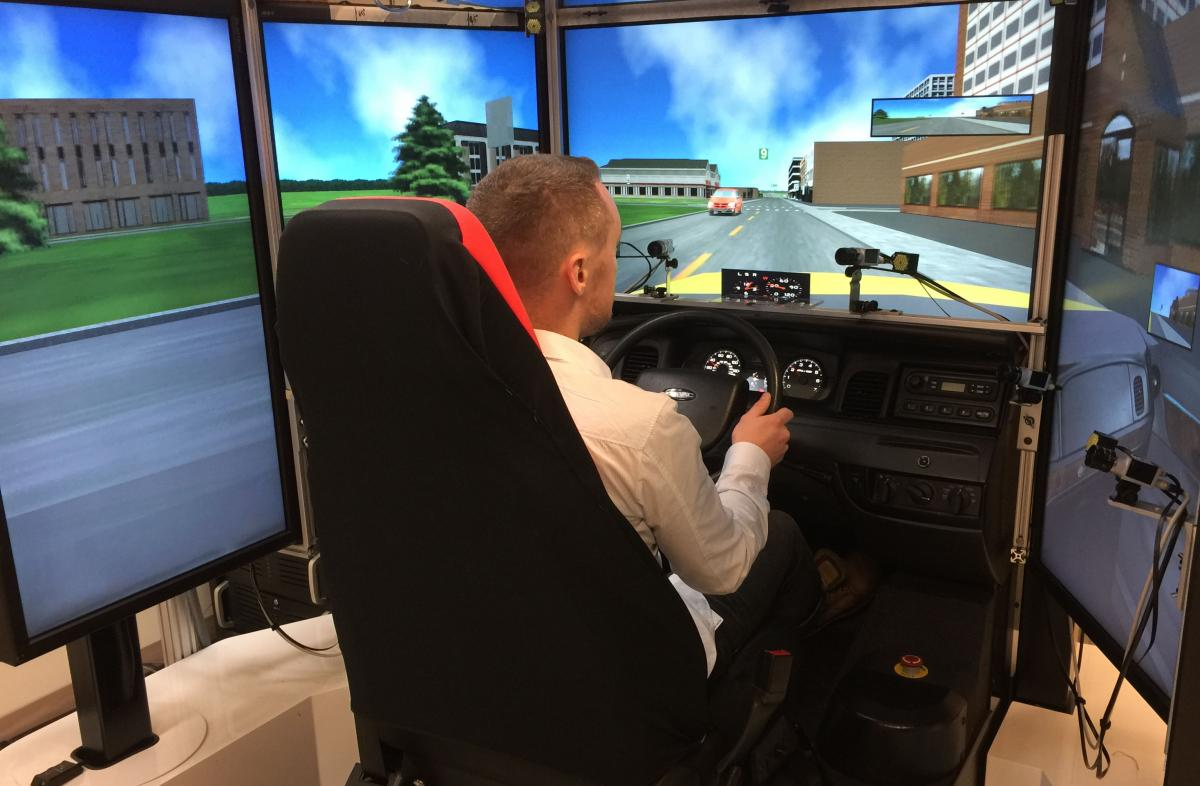 Driving simulators enable researchers to safely evaluate driving