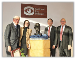 From left: Ambassador William vanden Heuvel, Ms. Katrina vanden Heuvel, Dr. Brian Hofland, and Dr. Paul Sieving.