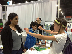 Children learn about the visual system at the 2014 USA Science & Engineering Festival