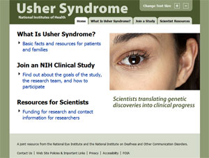 NIH Offers New Web Resource on Usher Syndrome