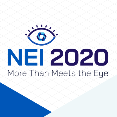 an infographic for the nei 2020 more than meets the eye campaign with an eye