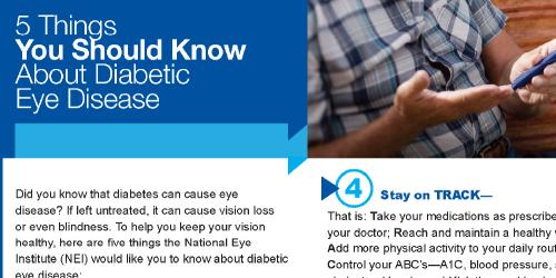 screenshot of diabetic eye disease infographic