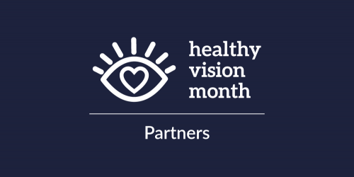 Healthy Vision Month logo with the word Partners written underneath it