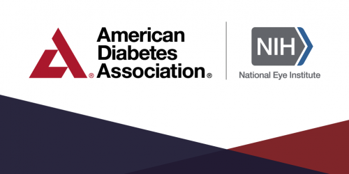 A mashup of the American Diabetes Association and National Eye Institute logo