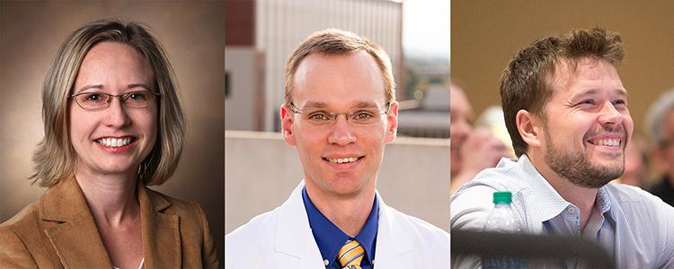 Photos of Principal Investigators: Tonia Rex, Vanderbilt University Medical Center; Brian Samuels, University of Alabama at Birmingham; Petr Baranov, Schepens Eye Research Institute of Mass. Eye and Ear, Harvard Medical School
