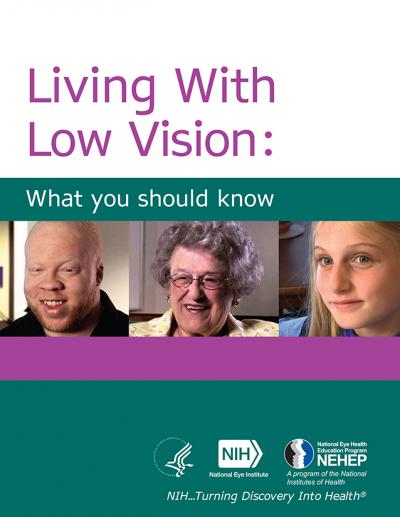 Living with Low Vision booklet cover