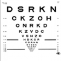 Eye chart for testing vision