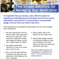 5 Simple Solutions for Managing Your Medication
