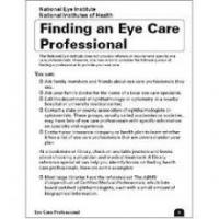 Finding an eye care professional