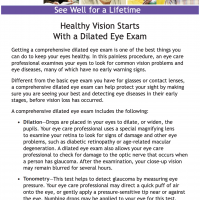 Healthy Vision Starts With a Dilated Eye Exam