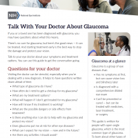 Screenshot of Talk With Your Doctor About Glaucoma material