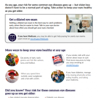 Aging and eye health handout