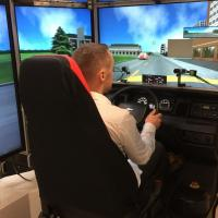 Driving simulators enable researchers to study potentially dangerous driving situations